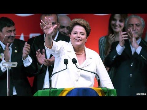 Dilma Rousseff re-elected Brazilian president