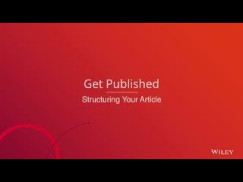 Get Published - Structuring Your Article