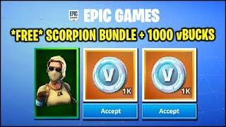*NEW* Fortnite Update - *FREE* Scorpion SKIN + 1000 vBUCKS (HOW TO & RUSSIA ONLY), STORMWING UNVAULT