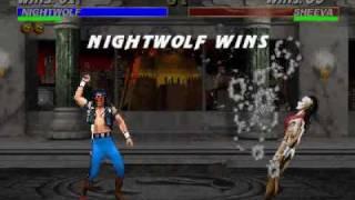 Mortal Kombat 3: Nightwolf Finishing Moves