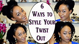 6 ways to style your twist out   natural hair 3c 4a curls