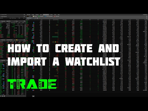 How to create and import a watchlist in thinkorswim
