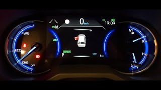 Rav4 Hybrid Display cockpit - Mirror display - Hidden menu