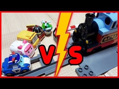 Thumbnail: Learn Colors Roboca Poli Toy Car Tayo Bus Train Finger Family Song Nursery Rhymes Color Pong Song