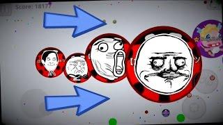 Agar.io Gameplay Epic 2v5 Vs Tah Clan Server Domination