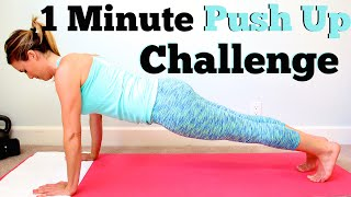 1 Minute Push Up Challenge | How Many Can You Do?