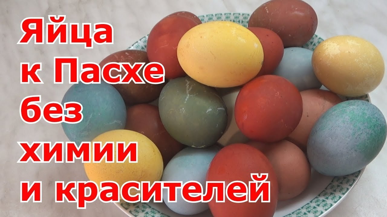 Как покрасить яйца на Пасху без красителей и без химии ...