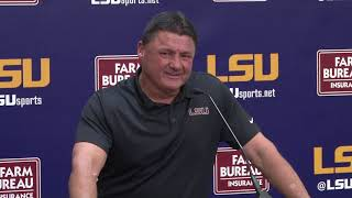 Coach O press luncheon on Monday. Follow us on Twitter @lsutigertv ...