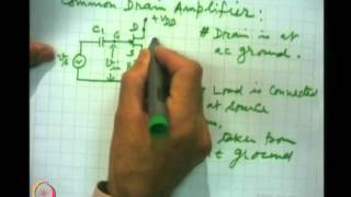 Mod-05 Lec-27 FET/MOSFET Amplifiers And Their Analysis
