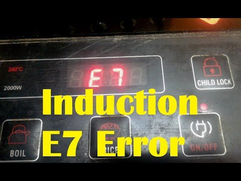 how to repair E7 Error in induction