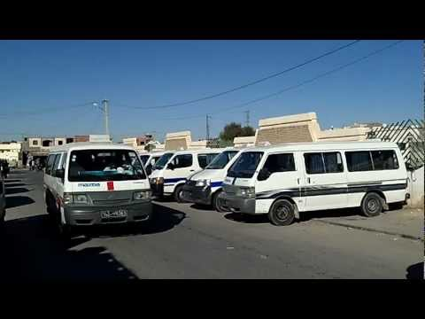 Tunisia - Mahatat Louages - local public transport minibus station Tozeur Jan 2013