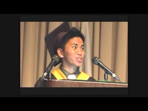 Vidal, Manuel graduation speech DLSU Manila