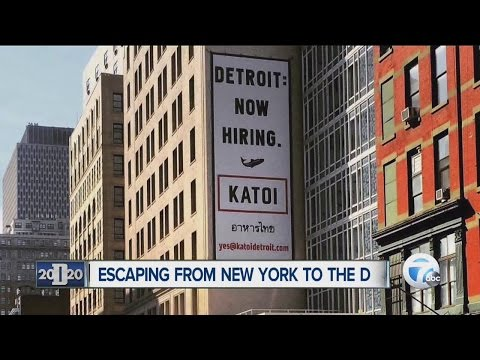 People making the move from New York City to Detroit