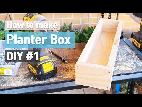 how-to-make-wood-planter-box-diy-|-planter-box-with-wood