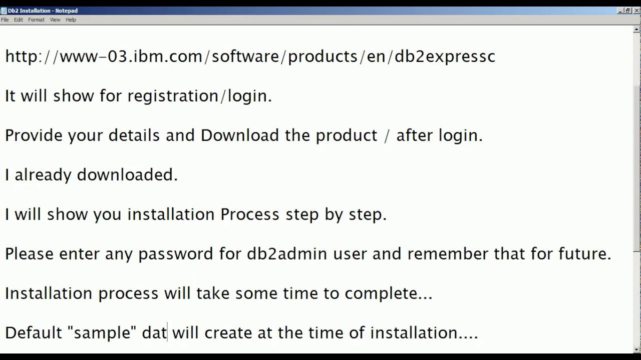 Informatica Administration Training Tutorial 1d: Download and Installation  of DB2