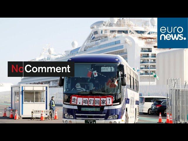 Passengers from coronavirus-hit cruise ship arrive home in Hong Kong