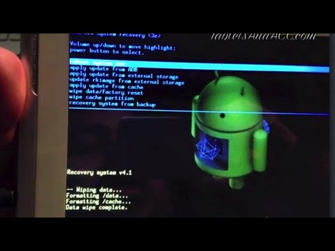 Android tablet pc hard reset reboot