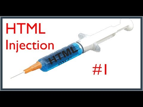 HTML Injection #1 - Web Security Tutorial (For Beginners)