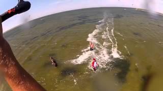 KITESURFING  LUGANSK UKRAIN ON THE SEA AZOV 01.08.2012