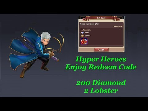 Hyper Heroes Enjoy The Redeem Code 2