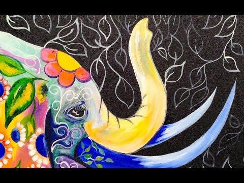 bohemian-elephant-easy-acrylic-painting-for-beginners-|-theartsherpa