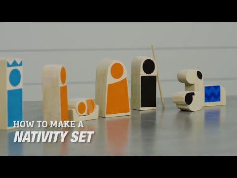 How to Make a Wooden Block Nativity Set