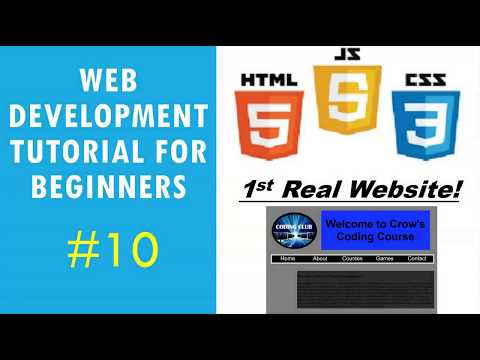 Web Development Tutorial For Beginners #10 | Design Your First Website