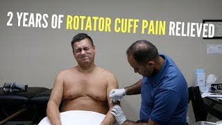 2 Years of Rotator cuff Pain Relieved Before  Your Eyes (REAL RESULTS!!!)