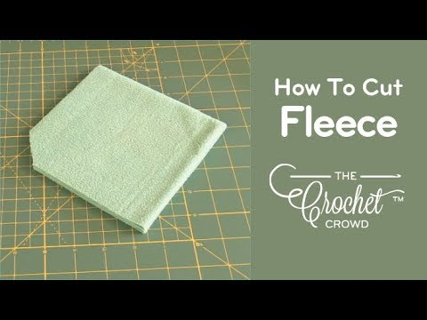 How to Cut Fleece for Backing to Crochet Blankets