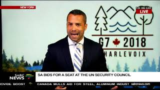 South Africa bids for a seat on the UN Security Council