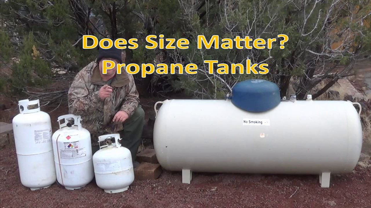 Sizes Of Propane Tanks I Use Off Grid Does Size Matter