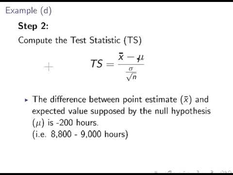 Hypothesis Testing for a population mean (Small Sample) - YouTube