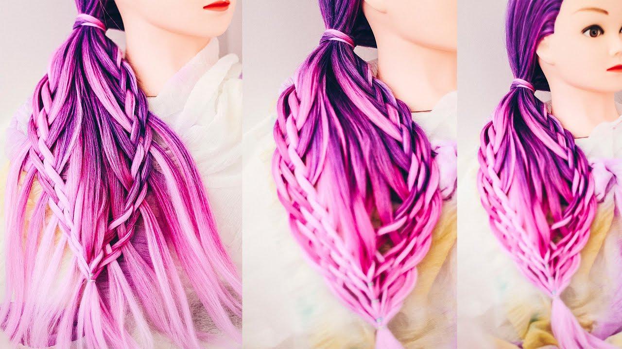 Коса на бок  Причёска с плетением для длинных волос