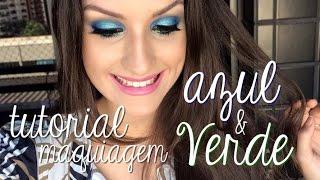 Maquiagem Azul e Verde! #Sereia Por Ana Julia Machado