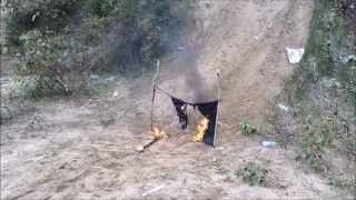ISIS flag burning challenge