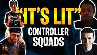 Fortnite - Lit Controller Squads - ft. TSM_Myth, FaZe_Cloak, & Basicallyidowrk | DrLupo