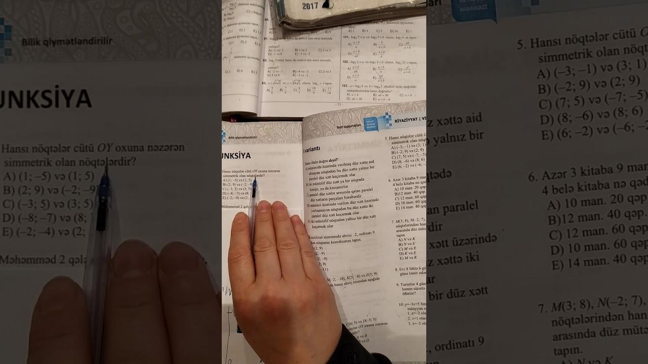 6-cı sinif.DİM-Riyaziyyat test bankı.Adi kəsrlər,Bölünən və Bölən,Bölünmə əlamətləri.