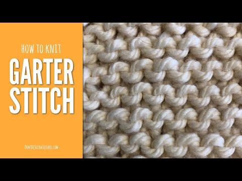Garter Stitch – Knitting for Beginners