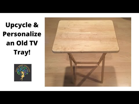 LIVE DIY   Up cycle and personalize an old TV tray!