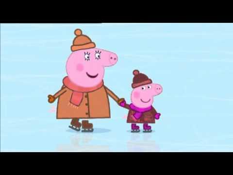 Свинка Пеппа українською сезон 2 серія 42 Ковзанка