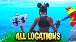 """Visit the furthest North, South, East, and West points of the island"" FORTNITE MAP LOCATIONS"