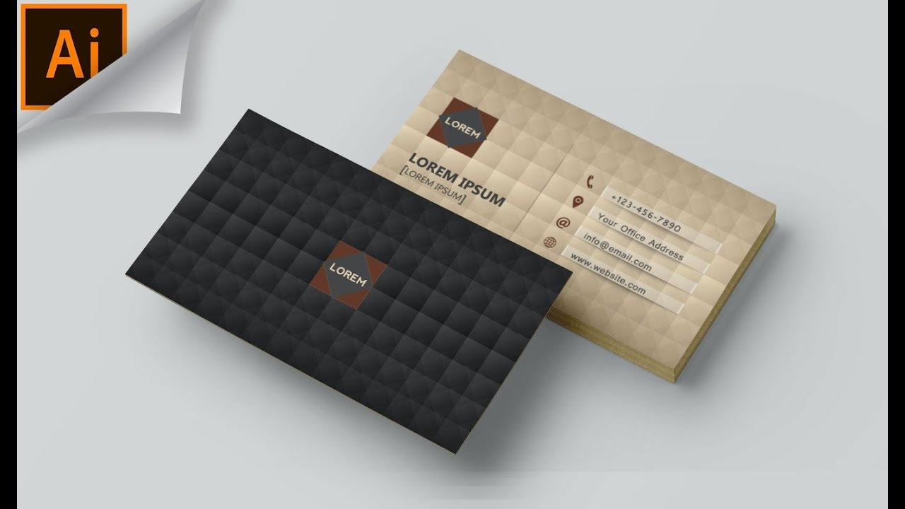 creative business card design in adobe illustrator cc