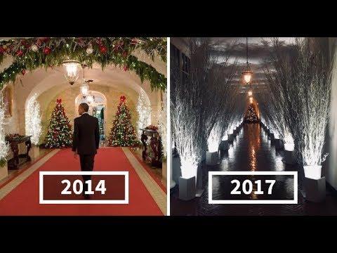 Melania Trump White House Christmas Decoration >> Hilarious Reactions To Melania Trump's 'Creepy' White House Christmas Decorations - YouTube