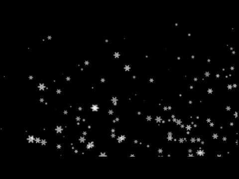 Футаж на чёрном фоне СНЕГ 1