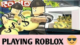 🎥PLAYING ROBLOX📽JAIL BREAK😎 AND FLOOR IS LAVA😅