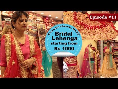 Chandni Chowk Lehenga Market  Buy Designer Lehengas For Cheap  Wedding Shopping