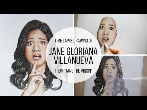 Drawing of Jane Villanueva (from Jane the Virgin)