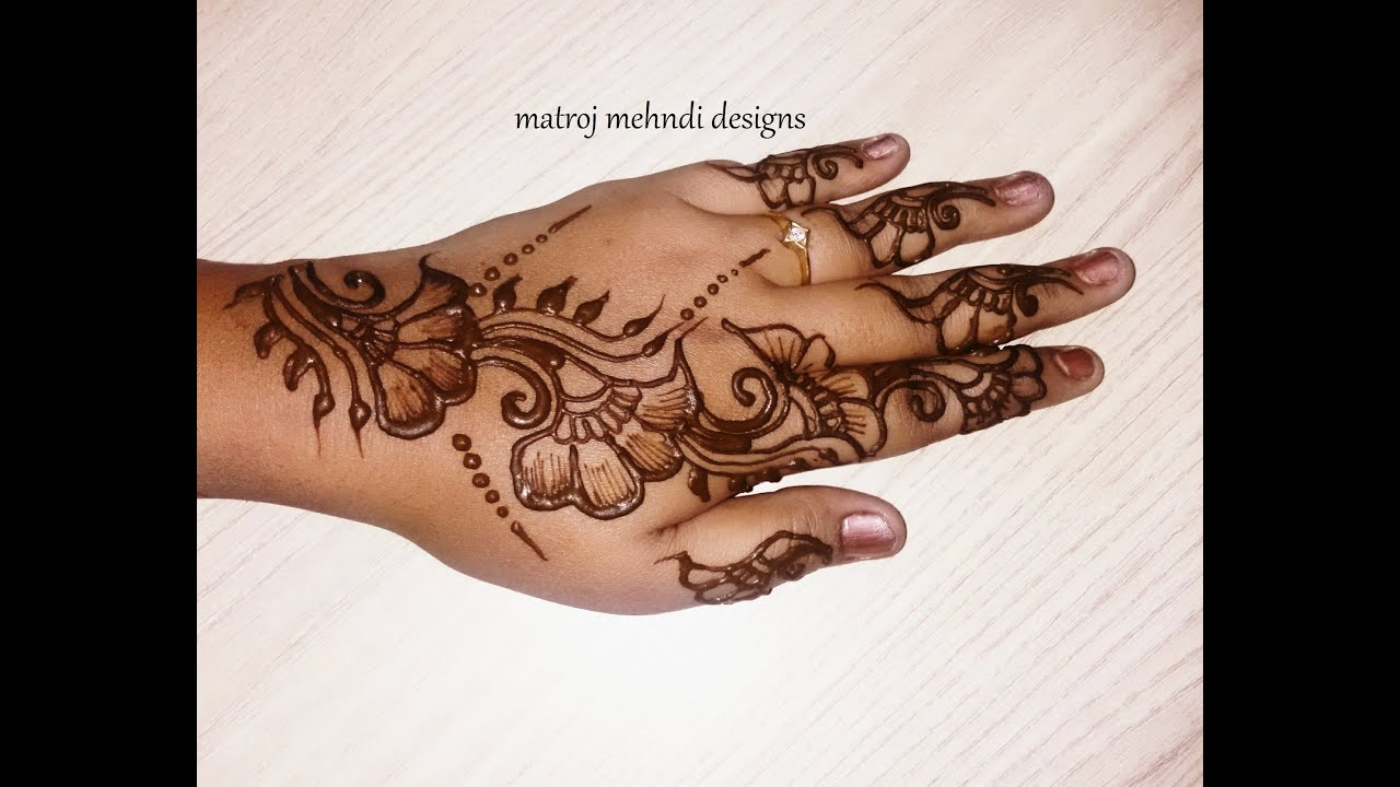 Simple Mehndi For Right Hand : Simple mehndi design for beginners easy henna back hands
