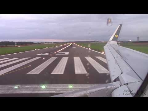 Thomas Cook A321 Takeoff from Newcastle Airport