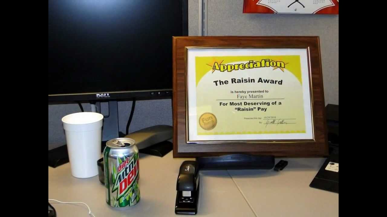 Funny Awards for Employees - YouTube